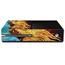 Mightyskins Protective Vinyl Skin Decal Cover for Microsoft Xbox One Console wrap sticker skins The Golden Dragon