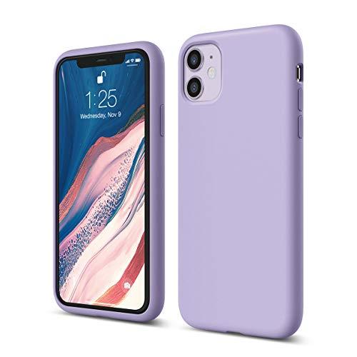 elago Silicone Case Compatible with iPhone 11 case (Lavender) – Premium Liquid Silicone, Raised Lip (Screen & Camera…