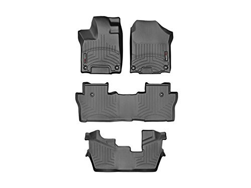 2016 Honda Pilot-Weathertech Floor Liners-Full Set (Includes 1st , 2nd and 3rd Row)-Does Not Fit the Pilot Elite Trim Level-Black