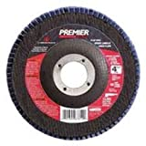 Carborundum 4 1/2'' X 5/8-11 Carbo Premier Zirconia Alumina Resin Red Discs Type 27 Cut Off Wheel, Package Size: 5 Each