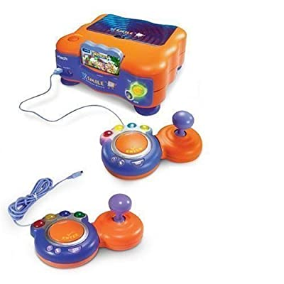 V.Smile Deluxe TV Learning System, Console, 2 Joystick, 1 Smartridges & Adaptor: Toys & Games