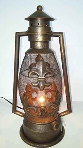 Fleur De Lis Stars (Fleur De Lis Metal Electric Lantern)