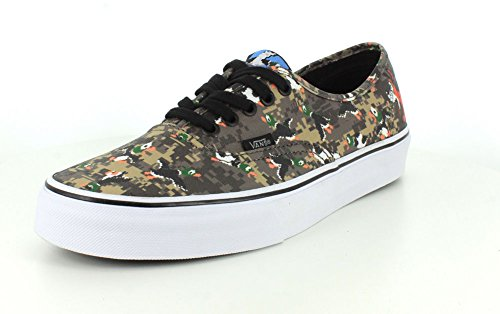 Vans Womens Authentieke (nintendo) Low-top Sneakers Met Veters En Eenden Duck Hunt / Camo