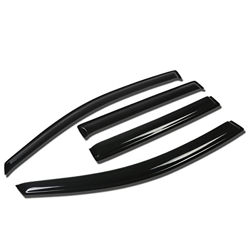 Nissan Armada WA60 VK 4pcs Window Vent Visor Deflector Rain Guard (Dark Smoke) (Nissan Pathfinder Window Visors compare prices)