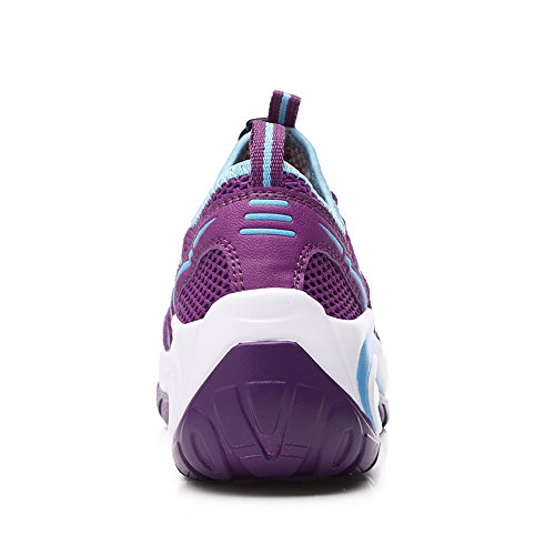 Running Jogging Walking Purple with Fitness On Shoes Thick Platform Women A17803 Enllerviid Slip Bottom 0aFIxX