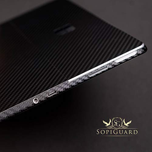 SopiGuard 3M Gloss Wine Red Precision Edge-to-Edge Coverage Vinyl Sticker Skin for Microsoft Surface Go