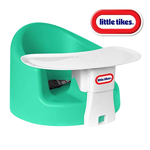 Best Buy! Little Tikes My First Seat Infant Foam Floor Seat & Tray Combo for Play and Feeding, Teal