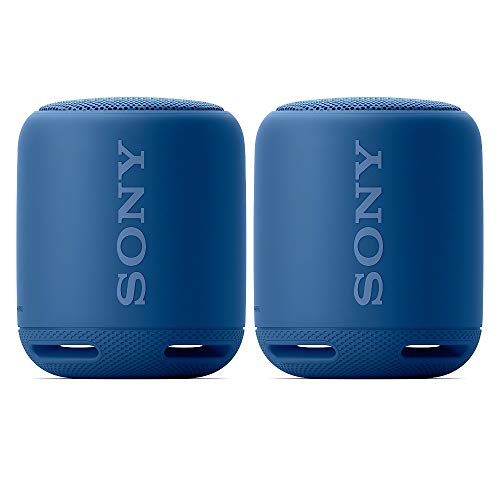 Sony SRS-XB10 Portable Wireless Bluetooth Speaker (Blue) Stereo Pair Bundle (2 Speakers, Left/Right Channel) (2 Items)