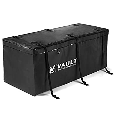 "Waterproof Cargo Hitch Carrier Bag from Vault Cargo – 15 Cubic Feet - Heavy duty cargo bags perfect for camping, carrying luggage, and outdoor gear. All weather cargo hitch bag (59"" x 20"" x 20"")"