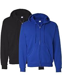 Hanes Men's Full-Zip EcoSmart Fleece Hoodie (Large, 1...