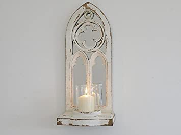 Hunky dory gifts rustique shabby chic arched Église fenêtre miroir
