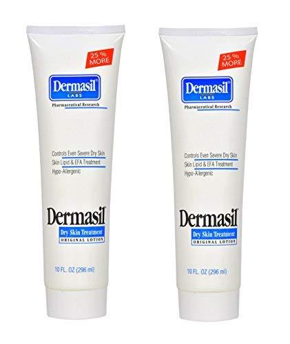 Dermasil Original Dry Skin Lotion Treatment (TWO 10oz Bottles )