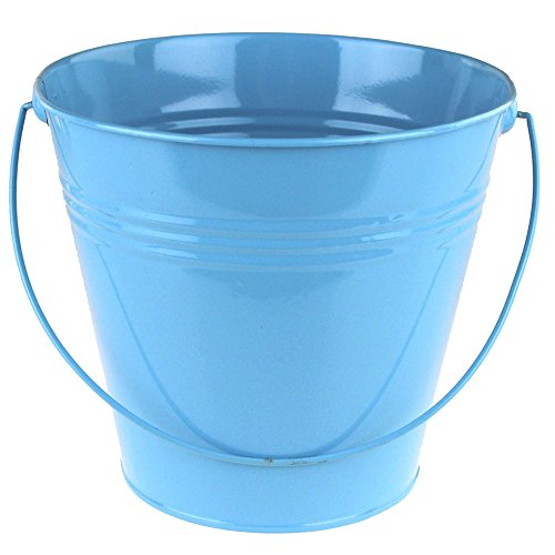 Metal Pail Buckets Party Favor, 7-inch (Blue) ()