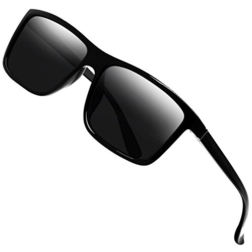 Polarized Sunglasses for Men Driving Mens Sunglasses Rectangular Vintage Sun Glasses For Men/Women Black2