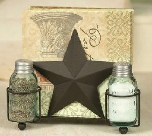 (Star Salt Pepper and Napkin Caddy)