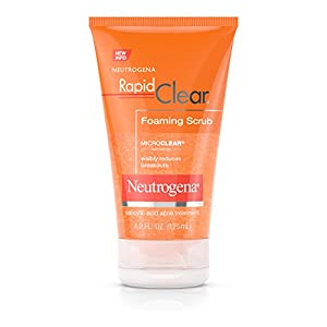 Neutrogena Rapid Clear Foaming Scrub, Face Scrub, 4.2 Fl. Oz.