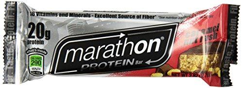 Marathon Caramel et noix Rush Protein Bar (Pack de 12)