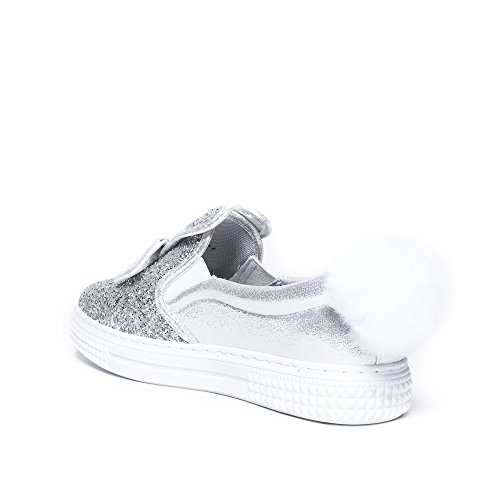 Ideal Shoes, Damen Ballerinas Silber