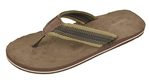 Dockers Men's 2124 Flip Flop, Brown, X-Large / 12-13 (Size is XL, Equivalent to 12/13)