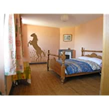 """Horse Upright In Grass wall decal sticker home décor 23"""" x 33"""""""