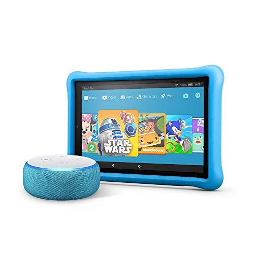 All-New Echo Dot Kids Edition, Blue with Fire HD 10 Kids Edition Tablet, Blue