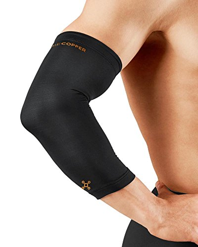 Tommie Copper Men's Recovery Vantage Elbow Sleeve, Black, Small