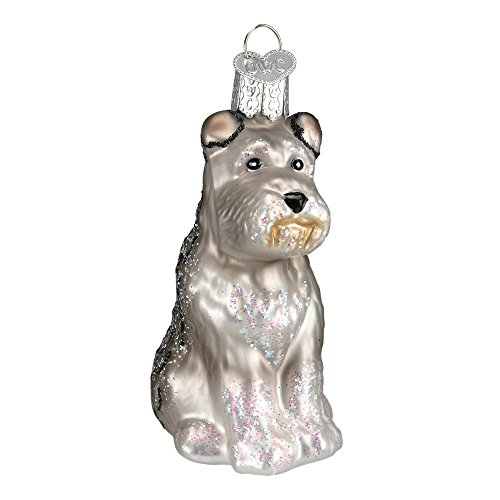 Old World Christmas Glass Blown Grey Schnauzer Ornament by Old World Christmas