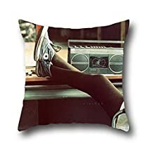 Coco Run In Old School Boom Box Vintage Cotton Throw Pillow Case Home Sofa Cushion Cover Decor Decorative 20*36