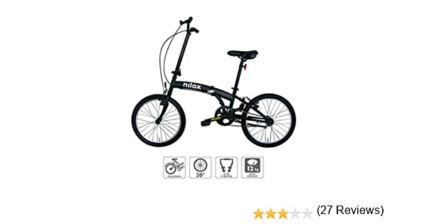 Nilox Micro Bike 20P-X0 Bicicleta (Plegado, Completo, Acero, 50,8 ...