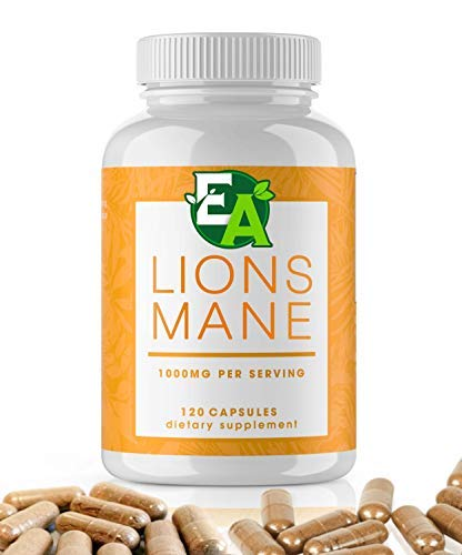 Lions Mane Mushroom Capsules - Real Mushrooms That Support Focus, Nerve and Brain Health. 1,000mg per Serving for 60 Days of Lion's Mane Mushroom Powder. Paul Stamets mentions Lions Mane on Joe Rogan