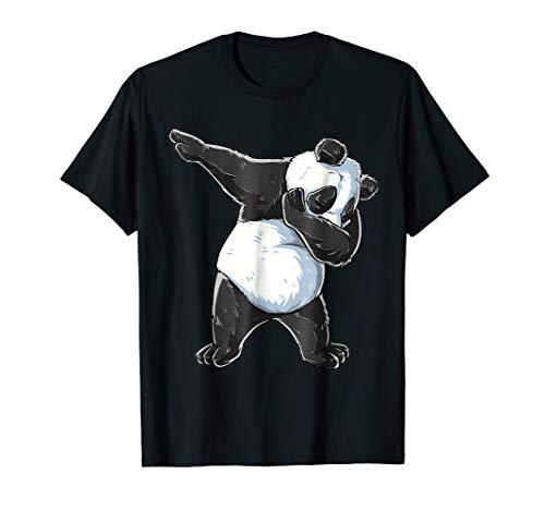 Dabbing Panda Kids T-Shirt Panda Youth Costume ()