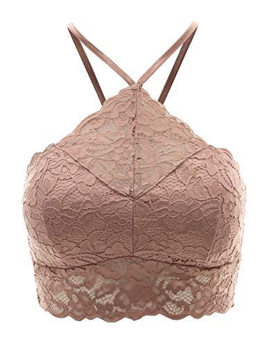 - FPT Women's High-Neck Lace Bralette Cocorose L