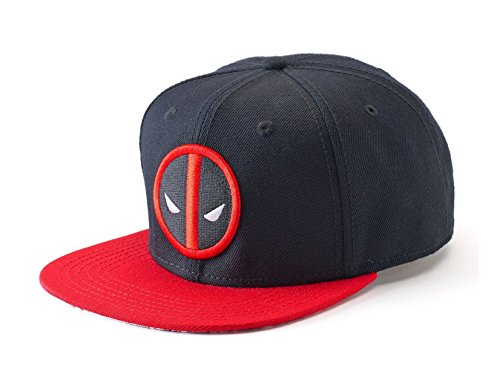 Marvel Comics Deadpool Embroidered Logo Snapback Baseball Cap]()