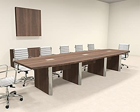 Amazoncom Modern Boat Shaped Feet Conference Table OFCON - 14 foot conference room table