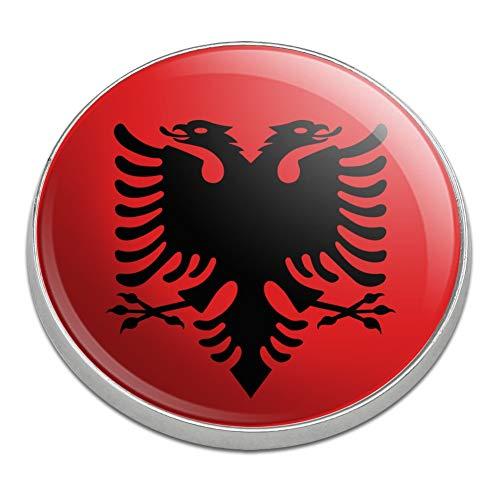 Graphics and More Albania Albanian National Country Flag Golfing Premium Metal Golf Ball Marker