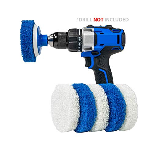 RotoScrub 7 Pack Multi-Purpose Drill Brush Kit for Cleaning Bathrooms, Showers, Tubs, Tile, Floors, Sinks, Toilets…