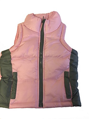 Royal Girls Girls Lightweight Puffer Vest (24M, Pink/Gray)