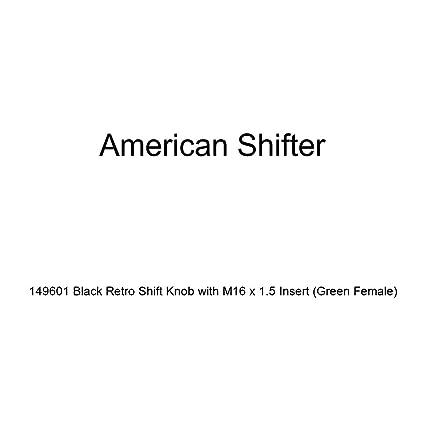 American Shifter 504507 4L80E Shifter Kit 10 E Brake BLK Push Btn 16 Handle Billet Knob for EF580
