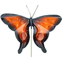 American Made Copper Butterfly Garden Sculpture & Stake in Orange