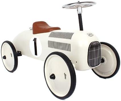 Vilac Retro Ride On Metal Car White: Amazon.co.uk: Toys