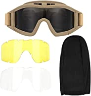 Tactics Goggles Anti-Dust Anti-Fog Eye Protective Goggles Protective for Bike Cycling
