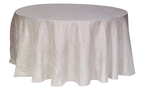 (Your Chair Cover Crinkle Taffeta Tablecloths, Round, 120