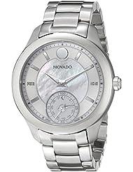 Movado Womens 0660004 Analog Display Swiss Quartz Silver Smartwatch