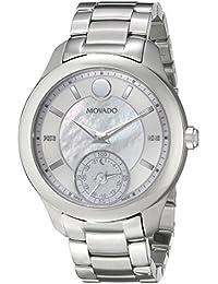 Women's 0660004 Analog Display Swiss Quartz Silver Smartwatch