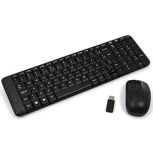 Teclado + Mouse Logitech MK220 Wireless Preto - 920-004431