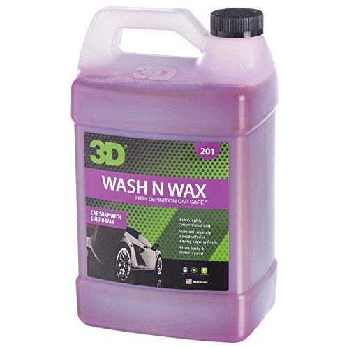 3D Wash N Wax - 1 Gallon | Concentrated All-In-One Car Wash & Wax Automotive Shampoo & Conditioner | Paint Cleaner & Protection | Made in USA | All Natural | No Harmful Chemicals (Best Car Valeting Products)