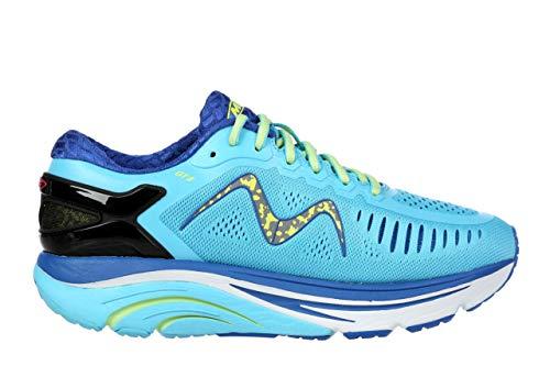 MBT USA Inc Women's GT 11 Blue/Lemon Green Running Sneakers 702024-1269Y Size 8.5