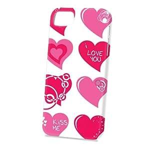 Case Fun Apple iPhone 5 / 5S Case - Vogue Version - 3D Full Wrap - Pink Love Hearts