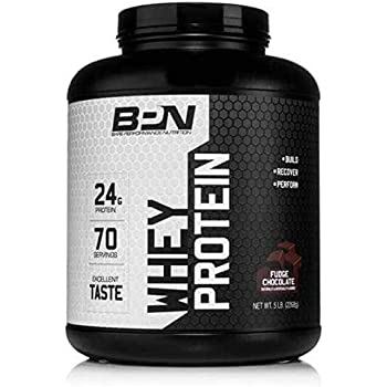 Bare Performance Nutrition | Whey Protein Powder | 25G of Protein, Excellent Taste & Low Carbohydrates (70 Servings, Fudge Chocolate)