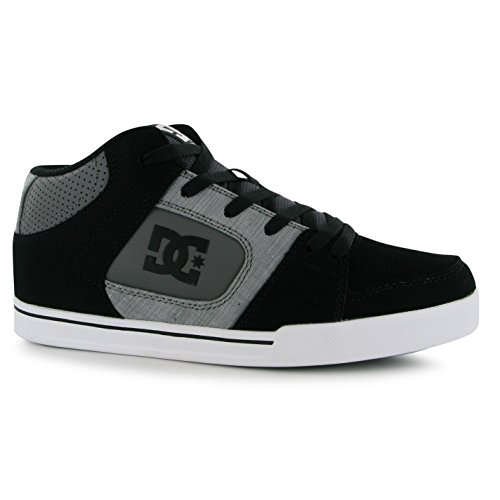 DC Shoes PATROL Skate zapatos para hombre gris/negro Casual zapatillas zapatillas, negro, (UK9) (EU43) (US10)